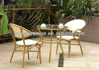 Bamboo like patio furniture, outdoor patio chairs and table, patio bamboo furniture