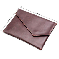 PU Leather Business Flat Hand Folder Envelope A4 File Bag Document Pack