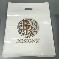 Custom your own logo pvc plastic shopping bag with handle