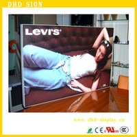Wholesale aluminum A0/A1/A2/A3/A4 Advertising LED poster frame