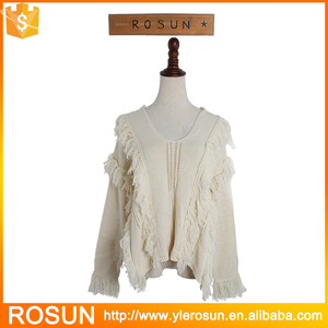 Chinese designed lace pattern crochet lady's fancy sweater