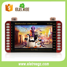 Large capacity mobile movies dv mp4 mp5 player with explosion-proof screen #EL555