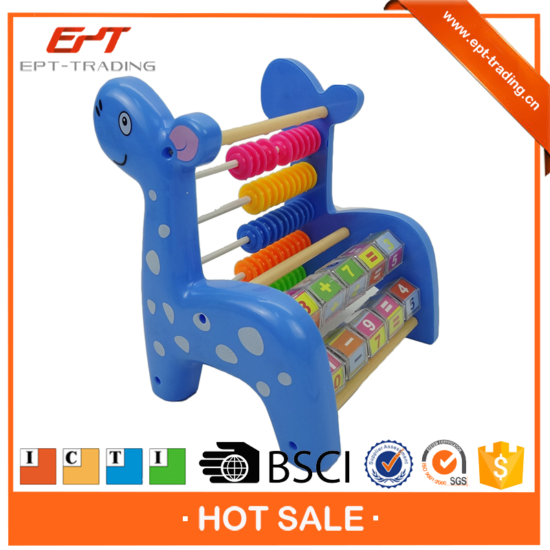 Cartoon deer educational school stationery abacus toys for kids