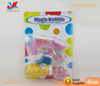 Battery Operated Bubble Gun Toys With Safety Bubble Water,Bubble ...