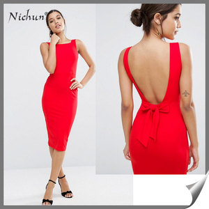 2016 Sleeveless Backless Women Apparel Clothing Blush Wedding Dress Party Dresses