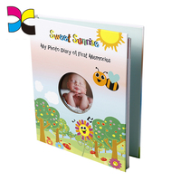 Hardcover book custom size Baby first year memory notebook album book