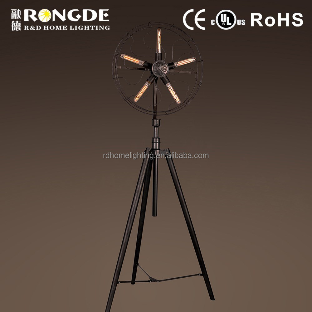 Luxury retro style wrought iron floor lamp