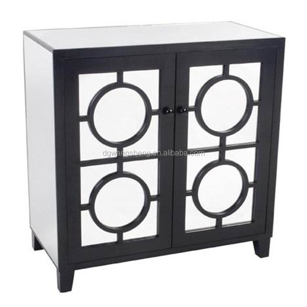 New classical postmodern mirror console cabinet