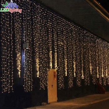 Outdoor Connectable Led Waterfall Light String Set Curtain Fairy Lights