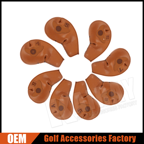 Custom Made Leather Iron Golf Head Cover Sets