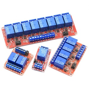 24V High Low Level Trigger Time Delay Relay Module Red