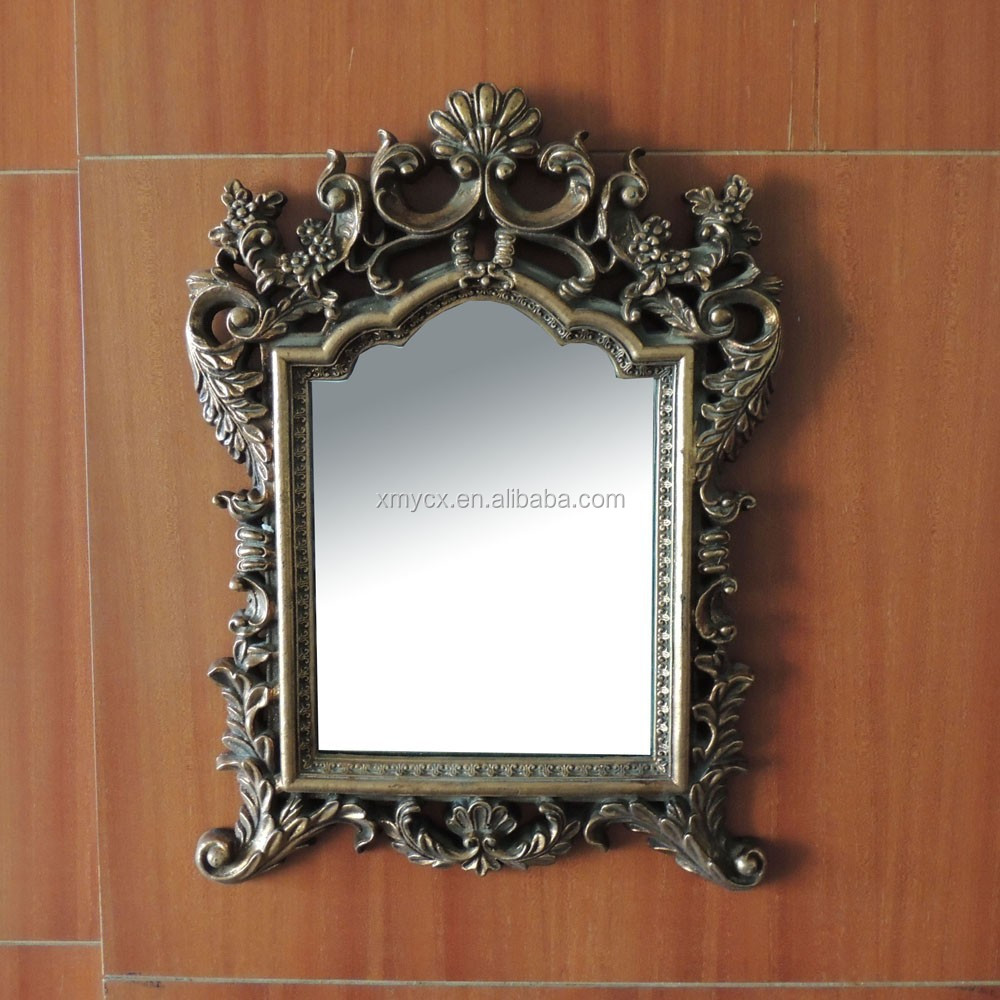 Fashionable resin rococo design mirror frame
