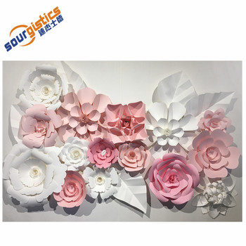 handmade wedding decoration wall paper flower large wedding backdrop