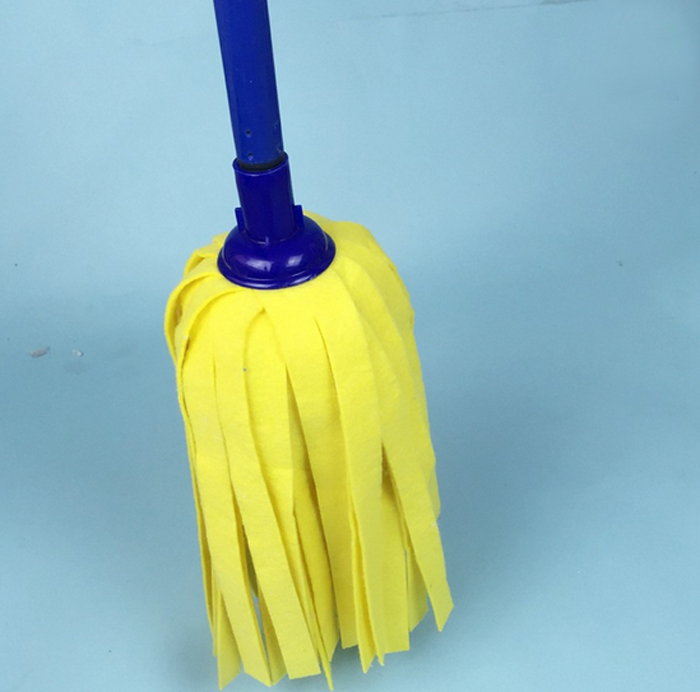 Spunlace Non-Woven Cloth Cleaning Custom Individual mop replacement head with steel pole
