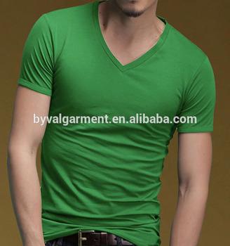 9a0f18eca4ab Custom Red Plain V Neck T Shirt For Men Sexy Bulk V-neck T Shirt ...