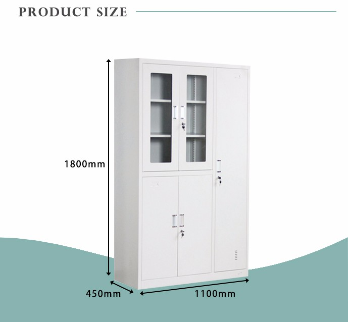 Practical Steel Locker 5 Door Bag Storage Coin Wardrobe Iron Cabinet