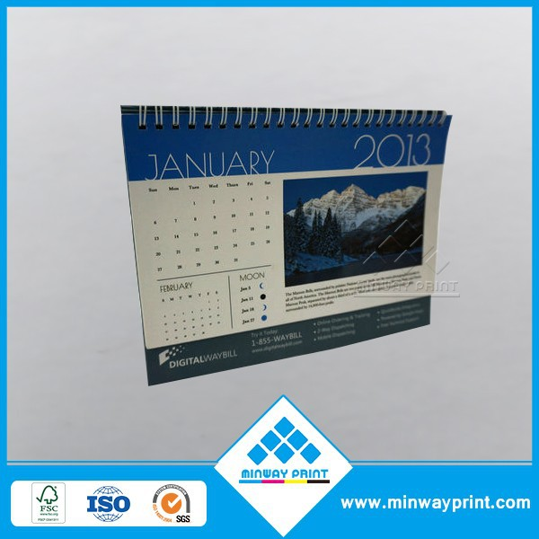 2017 desk calendar newest promotional custom monthly yearly calendar