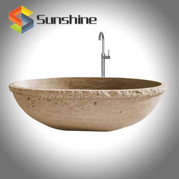Yellow Travertine Bathtubs Natural Chiseled Finish Bathtub Stone ...