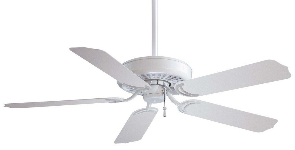 """Minka Aire F571-WH Sundance - 52"""" Outdoor Ceiling Fan, White Finish with White Blade Finish"""