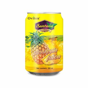 325ml Low price best new type product pineapple juice drink in tin can