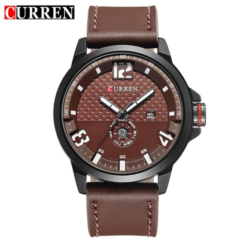 Original Brand Luxury Men Wristwatch Leather Strap Business Date Japan Quartz Movement Military Curren Watches Men Hot Sale 2017