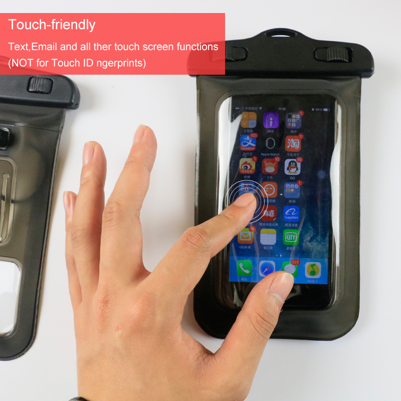 Headphone Jack Armband Lanyard Waterproof Cell Phone Case Dry Bag Pouch for monile phone