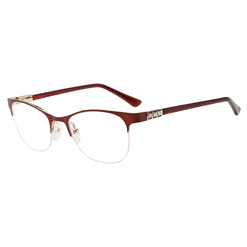 Latest Metal Optical Eyewear Fashion Colorful Half Frame For Women Eyeglasses In Ready Stock Eyeglasses фото