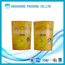 Plastic Standing Dried fruit packing kraft paper bag with zipper