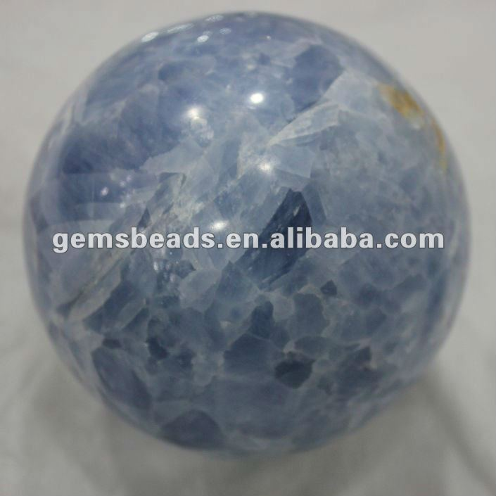 High quality natural crystal blue quartz ball 8cm
