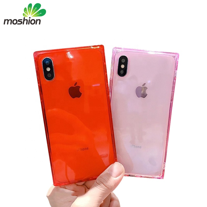 Luxury Transparent Square TPU Soft cases Mobile Phone Casing for iPhone 7 , for iphone 6s 8plus x /xr /xs max case cover фото