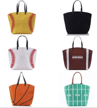 Sporty Kanvas Softball Baseball Basket Sepak Bola <span class=keywords><strong>Totes</strong></span>