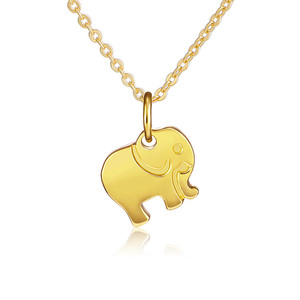 channel jewelry imitation resin elephants pendant mens silver necklace