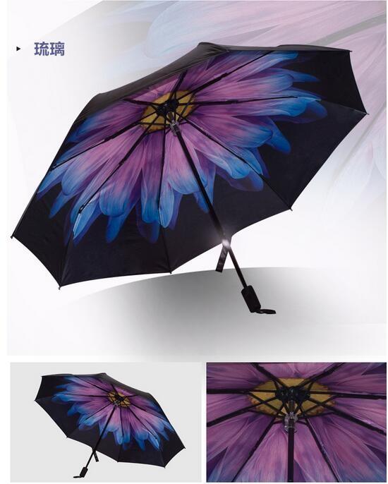7bd5f21c72619e Creative Folding Umbrella Rain Women Men Umbrella Three folded Female  Umbrella Windproof Sun Protection Parasol Women Fashion - us60