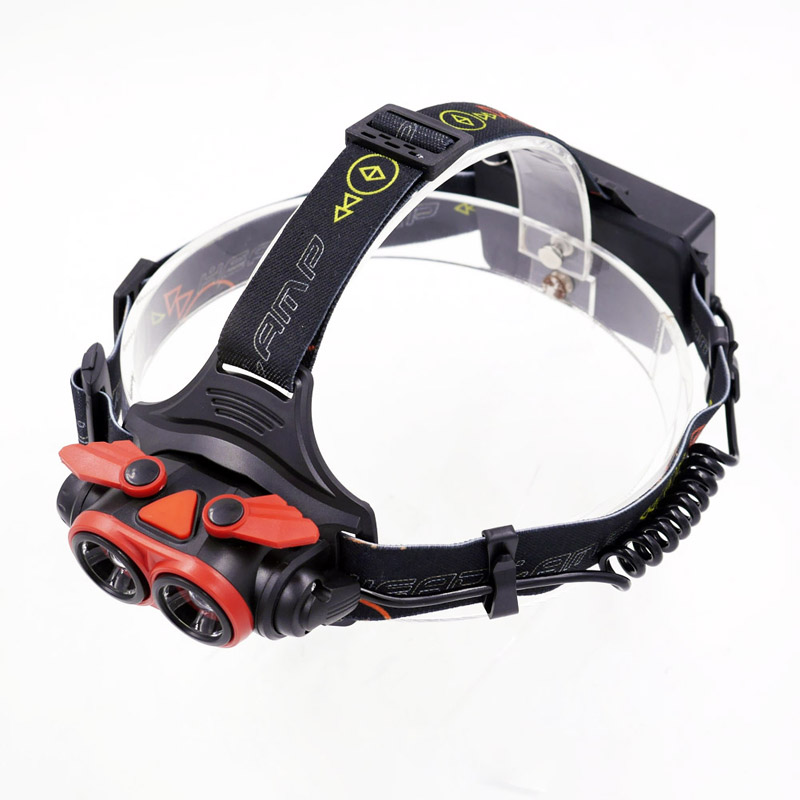 4Mode strobe Headlamp 2pc XM-L T6 LED USB 18650 AA Zoomable Headlight Head Lamp Light Flashlight Torch