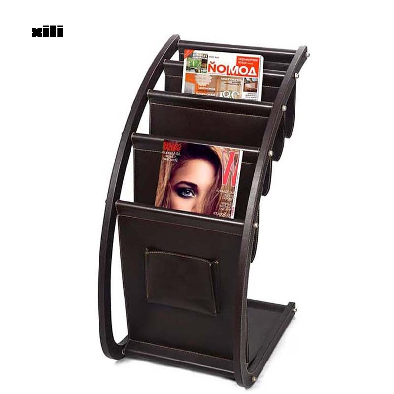Get Quotations · For Newspapers Magazines Magazine Holder Wood Office  Magazine Rack Leather Magazine Rack S1090