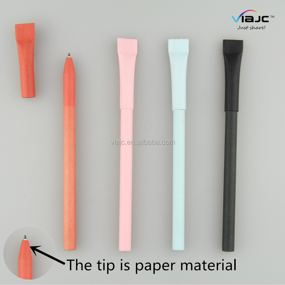 ECO friendly paper ball pen with cap in proper price
