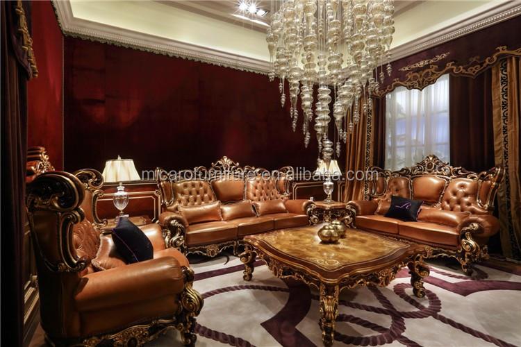 de lujo de estilo clsico italiano color de cuero real de madera de cerezo tallada muebles