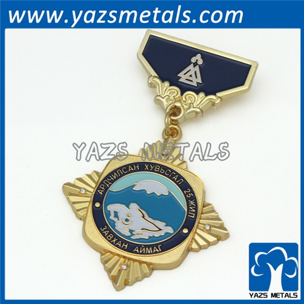 Hot sell decorative medals with ribbons /engraving medals /military medal