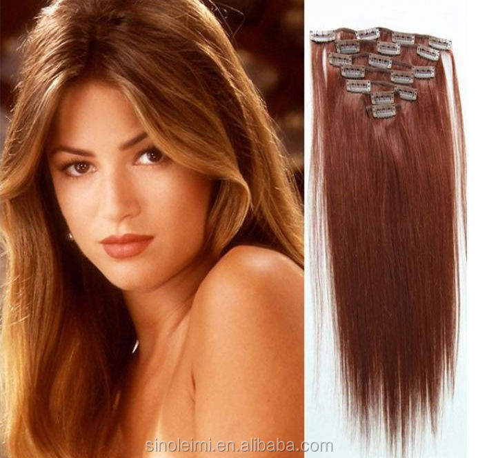 2015 Full head all textures 100% virgin remy clip in wholesale hair