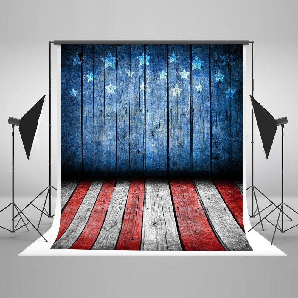 Kate 5ft(W) x7ft(H) American Flag Photography Backdrops for Photographers Microfiber Reused Independence Day Photo Backdrop 4th of July
