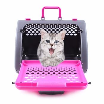 a35ceed3f4 2018 hot sale pet carrier foldable Airline Approved Kennel box for Small  Dog Cat carrier