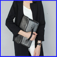 CL001Bagtalk Alibaba Yiwu Evening Bag Crocodile Pattern Women Leather Handbag Fashion Clutch Bag