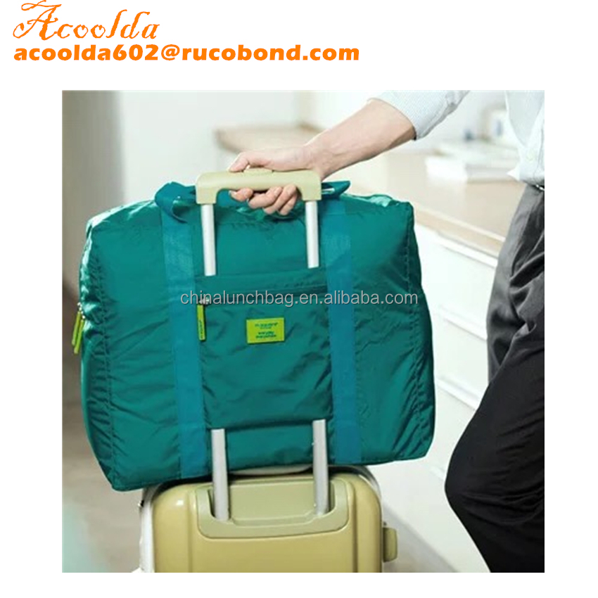 Manufacturer waterproof nylon folding travel bag men's travel luggage to collect cloth