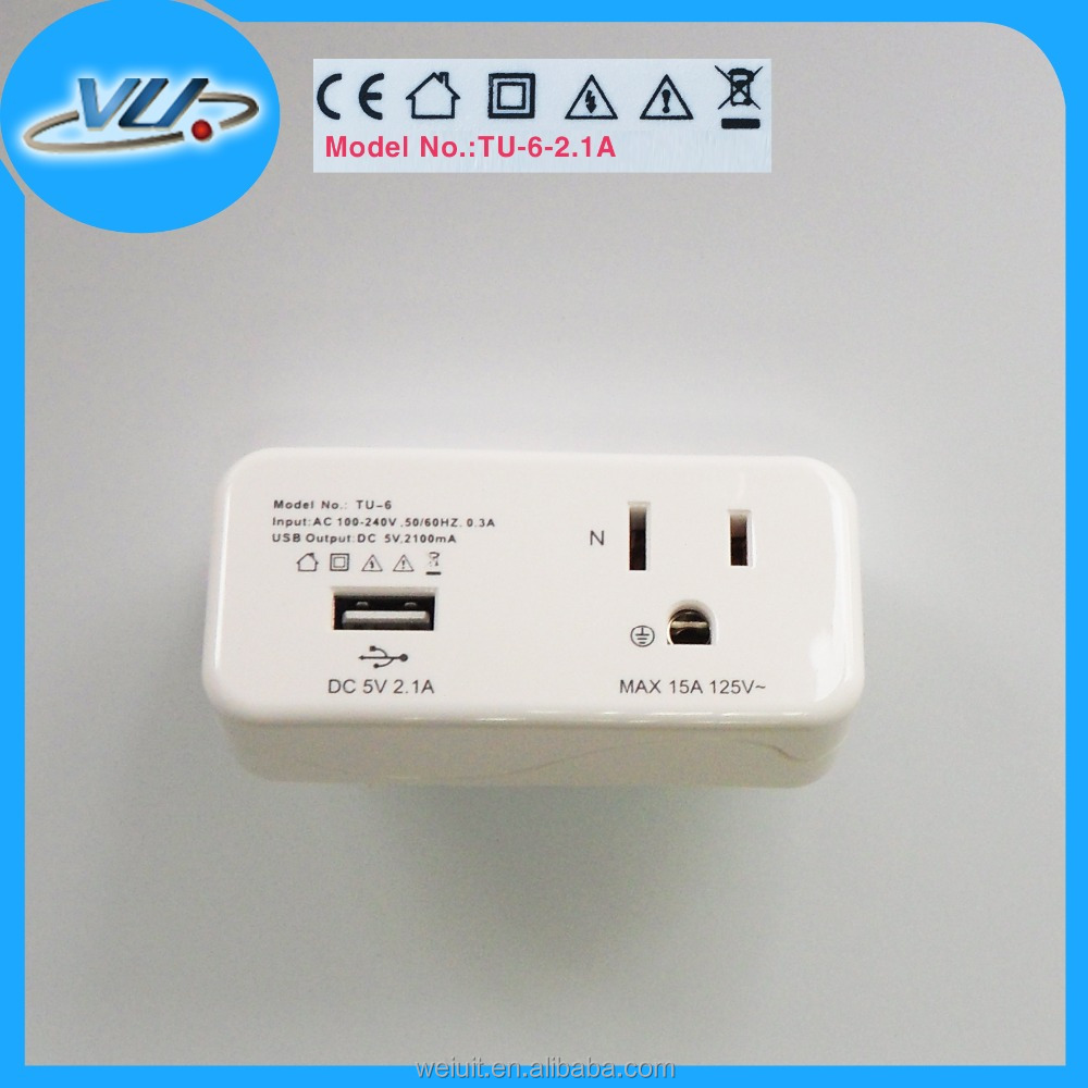 Different plug changable Mini universal travel adaptor