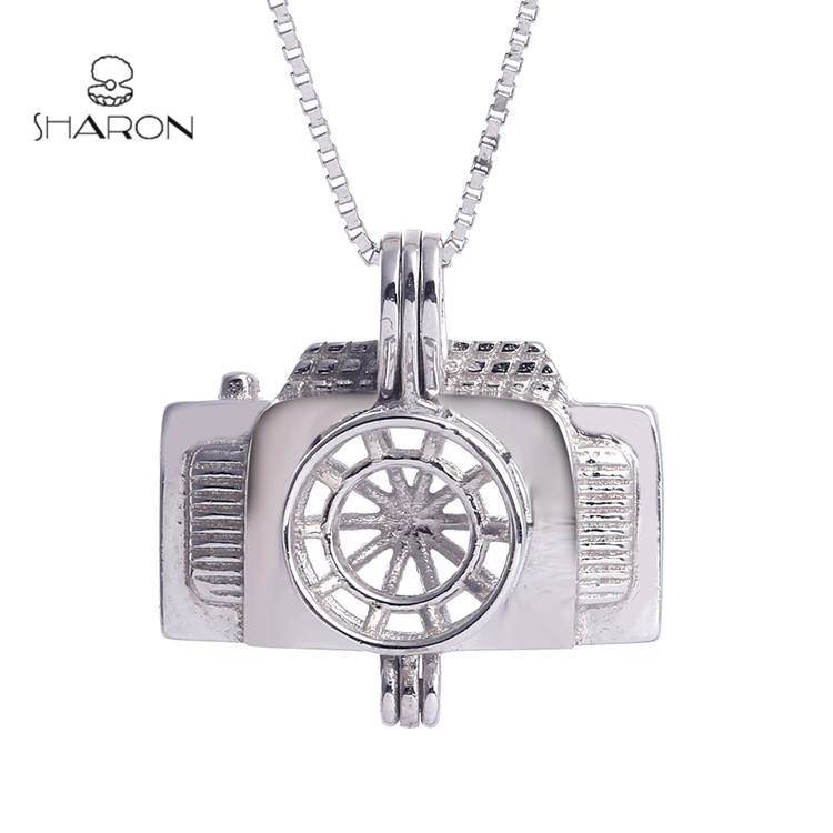 Wholesale Fashion Jewelry 925 Sterling silver Camera Cage Pendant