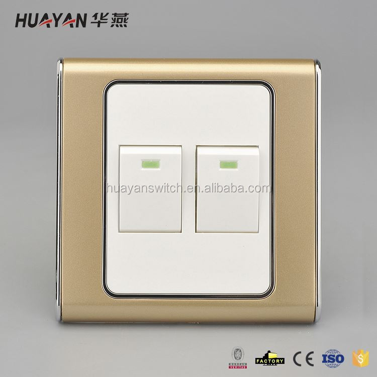 Factory Sale Different Types White Panel Hotel Electric Switch With Key Card