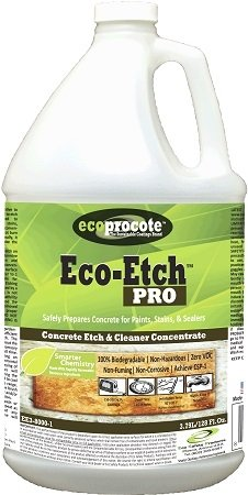 Eco-Etch Pro Concrete Etcher & Cleaner, Non-Toxic Etching & Cleaning Solution - (1 Gallon)