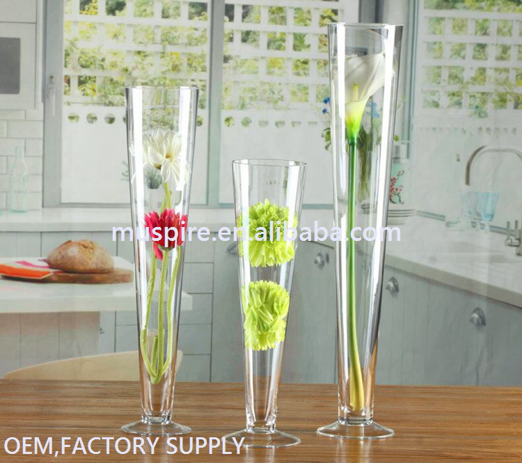 Glass Crafts_glass vase!GV130 Tall Glass Vase Wedding#zt GV130 Tall Glass Vase Wedding Centerpiece (3)