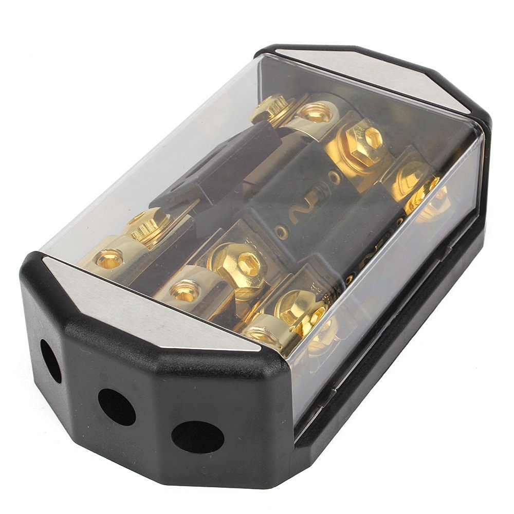 Gold Plated Car Circuit Automotive 3x100A Fuse Distribution Block Holder