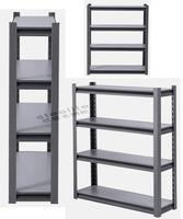 Rack maufacturer low cost 5 tiers adjustable steel garage shelving storage rack light shelves